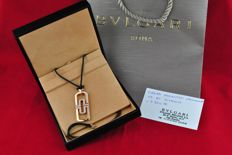 "Bvlgari - ""Parentesi Openwork Collection"" Diamond (Tot. +/- 1.50ct FG/VVS-VS) set on 18k Pink Gold Pendant - Size 60mm x 20mm"