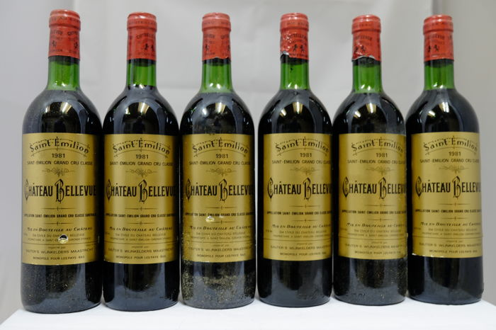 1981 Chateau Bellevue, Saint-Emilion Grand Cru Classe, France - 6 Bottles.