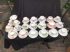 Collection of 18 cups and saucers and a cream set Royal Albert Bone China