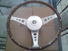 Moto-Lita riveted wood rim steering wheel 1960/70s - 35cm