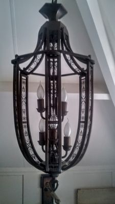 Metal Hall lamp, second half of the 20th century
