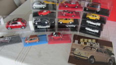 Various - 1/43-1/24 - Lot with 22 models & book: Fiat, Maserati, Alfa Romeo & Lancia