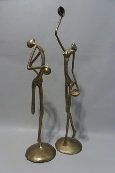 Decorative; 2 stylised naked figures - 2nd half of 20th century