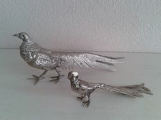 Two silver plated pheasants, United Kingdom