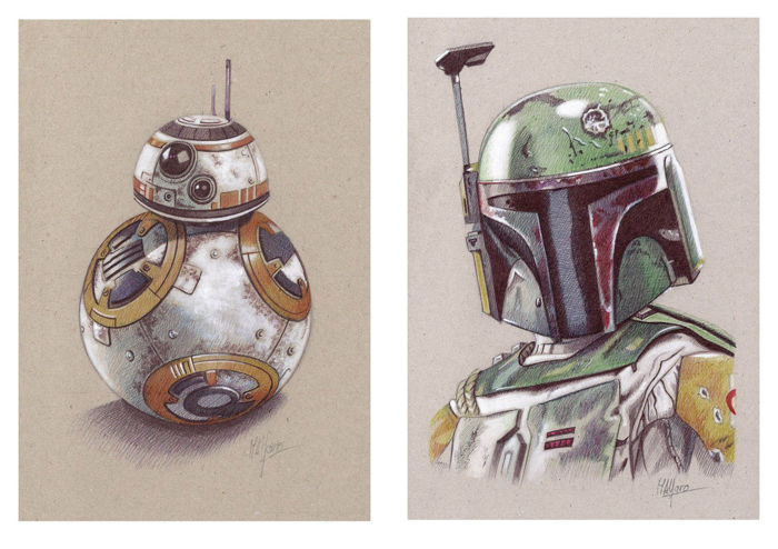 Miguel Angel Alfaro Rey - Star Wars - Signed Limited Edition Prints x 16