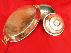 Beautiful copper hammer blow fish pan and stew