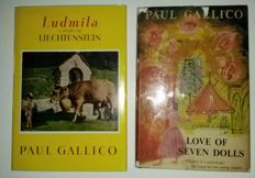 Paul Gallico - Lot of 2 signed books 1954 / 1960