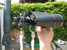 "Very powerful field binoculars - ""COPITAR"" 20 X 50!!  + binocular adapter/matching grip + extremely strong, intact case!"