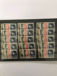 The Netherlands 1936/1939 - Batch with many semi-postal series