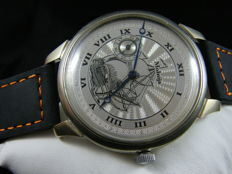 Mołnija mariage men's watch with ship