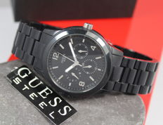Guess Ladies Black Steel Designer Watch – Unworn