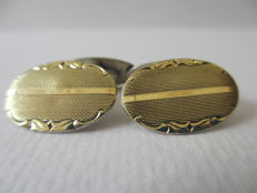 Antique Art Deco silver cufflinks by Fühner & Assmus, Pforzheim, Germany, circa 1920