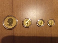 Canada – 1 Dollar to 50 Dollars 2011 '100 Year Anniversary of the Royal Canadian Mint' (5-coin set) – Gold