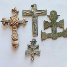 Lot of crosses from the XVl - XVll centuries