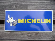 Original tin MICHELIN advertising sign. Made in France. 1950s/1960s.
