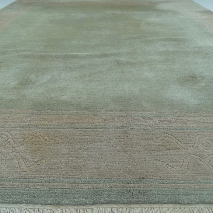 "NEPALESE – Nepal – 293 x 245 cm – ""Modern Oriental carpet in gold-beige"" – Second half previous century."