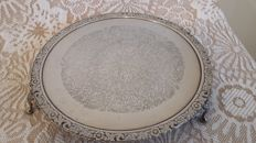 Cake stand silver plated made in england.