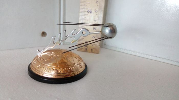 Ussr 1957-X-4 Sputnik - The First Earth's Satellite  MIR  Vintage space souvenir
