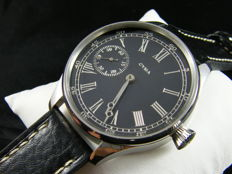 Cyma with beautiful black dial - Mens mariage watch