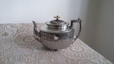 James dixon antique epbm silver plated teapot circa 1850 /1884 made in england.