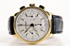 Eterna Les Historiques - Flyback Chronograph - 18K Solid Yellow Gold *** NO RESERVE PRICE ***
