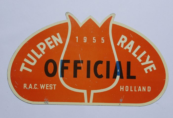 Original old rally badge for the Tulpen Rallye