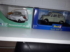 Revel - Scale 1/18 - Lot with 2 models: Seat 600 D & Messerschmitt KR 200