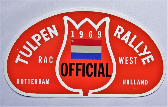 Old original Tulpen Rallye badge from 1969.