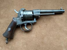 Large 9mm pinfire revolver type Lefaucheux - ca. 1860