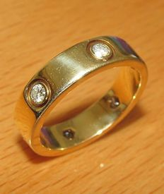 """Cartier - """"Love"""" wedding band 6 diamonds Size:75 us 6(16mm)for male 18k pink gold"""