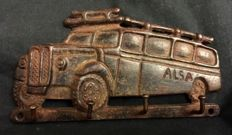 ALSA buses (Asturias, Luarca) - travel. Old advertising plate(key-ring) - 50s, cast iron