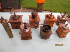 8 Old coffee grinders