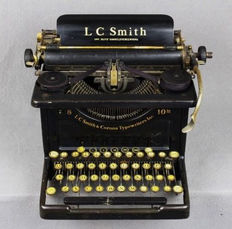 Antique J C Smith & Corona 8 - 10 typewriter, United States, around 1920
