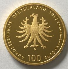 Germany - €100 2003 'Unesco world heritage city Quedlinburg' ½oz gold