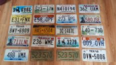 20 USA License plates (Incl set from 1977)