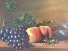 De Vrieze (20th century) - Stilleven met fruit.