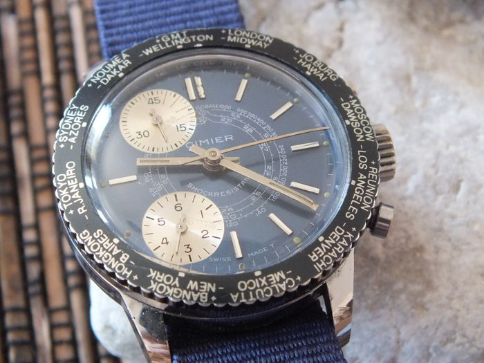CIMIER World Time Telemeter - Men's Chronograph Watch - circa 1960s