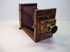 Antique no wooden plate camera, approx. 1910-1915, well preserved