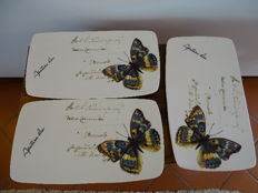 Large serving platters with butterflies
