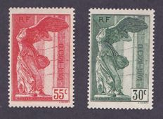France 1937 – Yvert #354 and 355