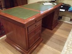 Mahogany writing desk in Neoclassical style - Italy - 20th century