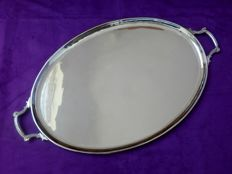 Very large heavy silver plated scale / tray