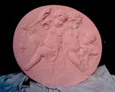 Neo renaissance plaster wall ornament - Netherlands - second half 19th century