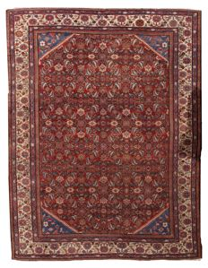 Hand made antique Persian Mahal rug 8.9' x 11.7' ( 274cm x 359cm ) 1900s