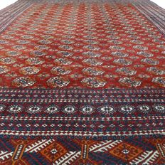 "AFGHAN – Afghanistan – 368 x 277 cm – ""Extra large – Clean oriental carpet"" – Second half previous century."