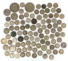 United Kingdom - Lot various coins 19th century and later (± 100 coins) - silver