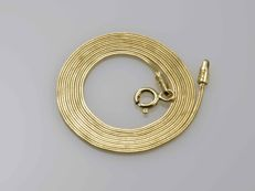 18k Gold Necklace. Snake Chain - 45 cm. No reserve price.