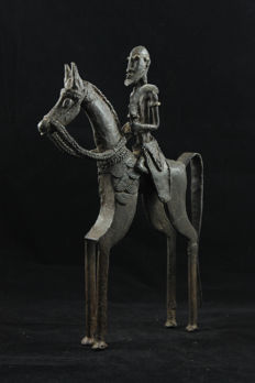 Large figurine of a rider and his horse - DOGON - Mali