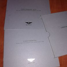 Bentley Continental GTC / Porsche brochures French / Spanish