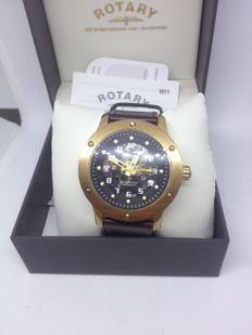 ROTARY EDITIONS 614C GENTS  MINERAL GLASS WATCH